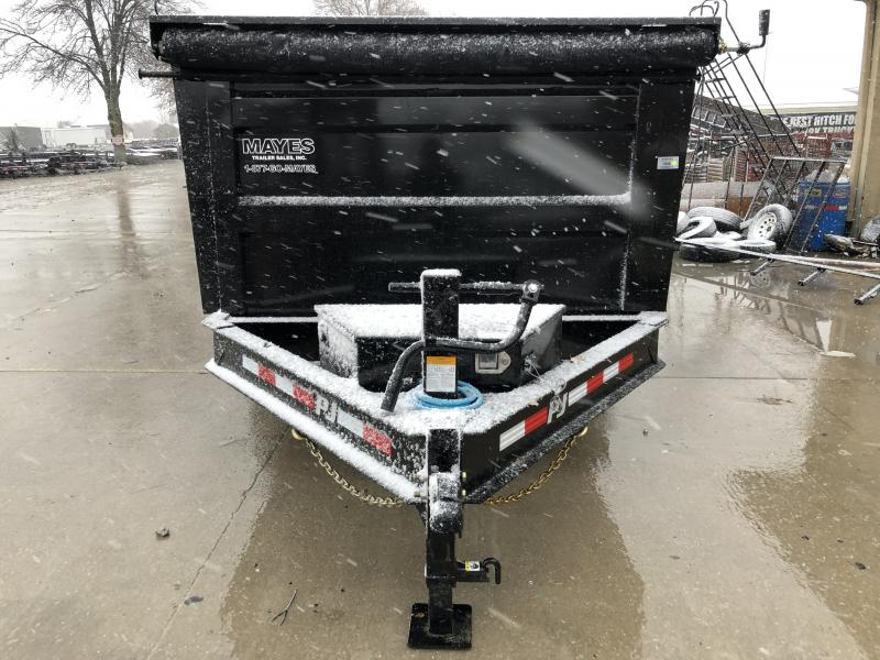2020 83x14 Low Pro High PJ Trailers DM142 Dump Trailer - Spllit/Spread Gate - Tarp Kit - 4 Foot High Sides (GVW:  14000)