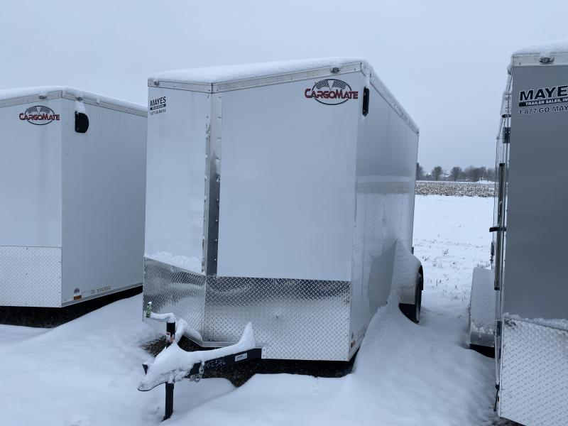 2020 6x12 Cargo Mate EHW612SA Enclosed Cargo Trailer - White - 12in Extra Height (RD)(GVW: 2990)