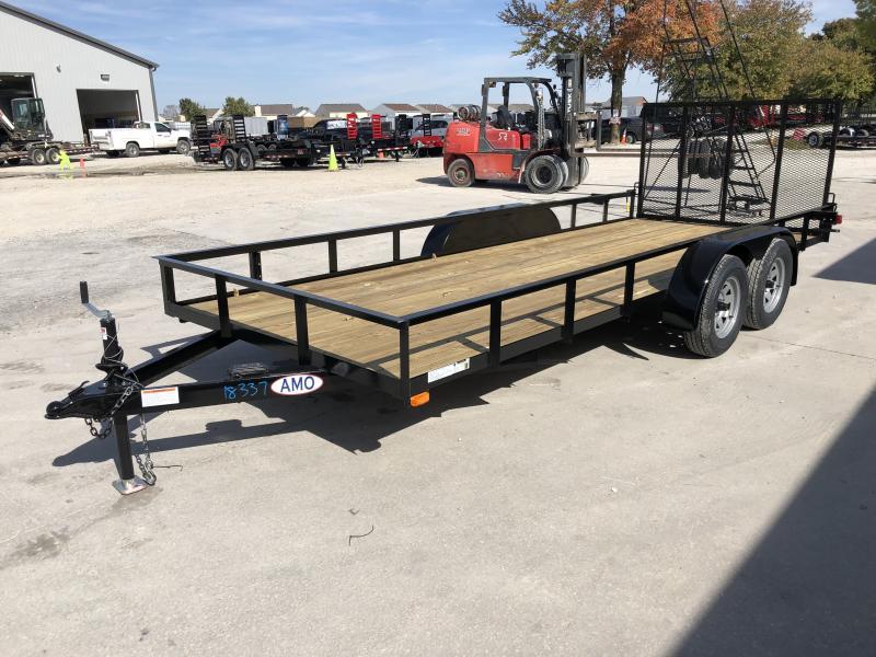 2020 76x18 TA AMO UT182 Utility Trailer - Treated Wood Floor - Tailgate (GVW:  7000)