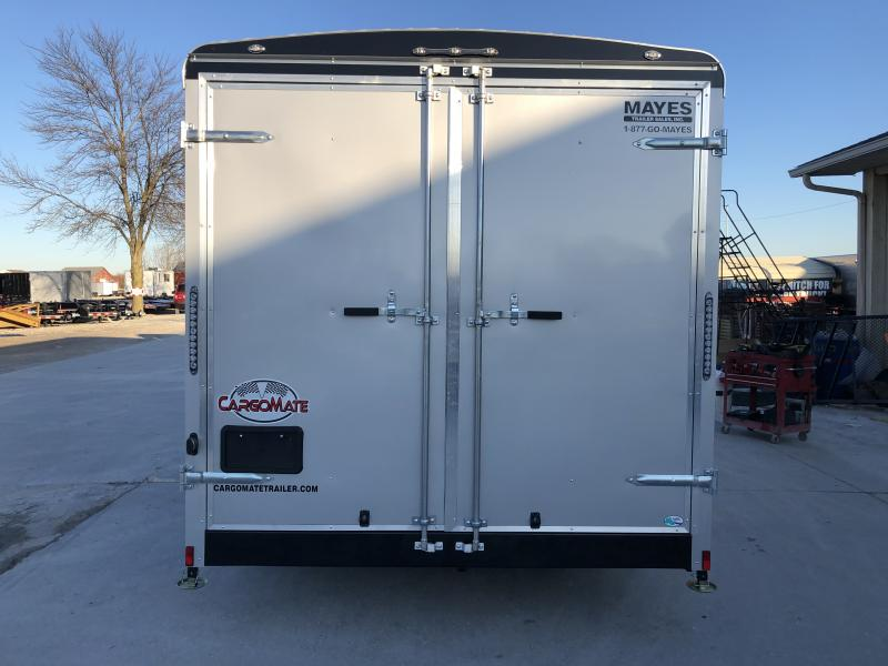 2020 8x16 TA Cargo Mate BL816TA3 Enclosed Cargo Trailer - Double Door with Dual Cambars - Side Door - 6 Inch Additional Height (GVW:  9800)