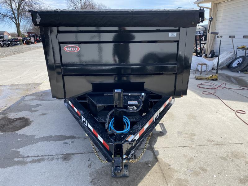2020 83x14 TA Low Pro DM142 P.J. High Side Dump Trailer - Split/Spread Gate - 10K Jack Upgrade - Spare Tire MOUNT ONLY (GVW:  14000)