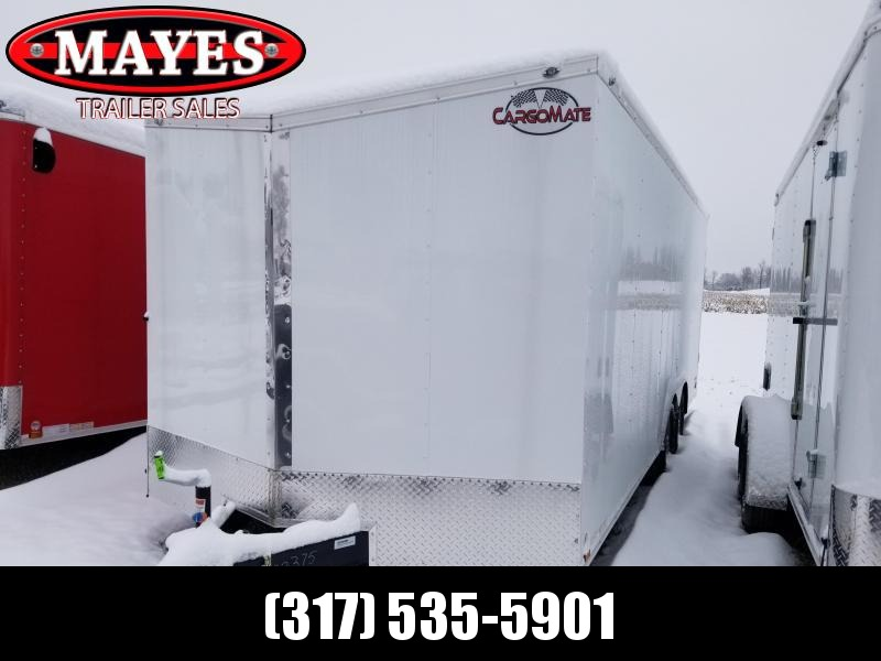 2020 8.5x20 TA Cargo Mate EHW8.520TA3 Enclosed Cargo Trailer - Ramp Door - .030 Metal Upgrade - Slant V-Nose (GVW:  9800)