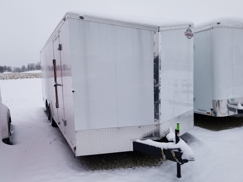 2020 8.5x20 TA Cargo Mate EHW8.520TA3 Enclosed Cargo Trailer - Ramp Door - .030 Metal Upgrade - Slant V-Nose (GVW:  9800)