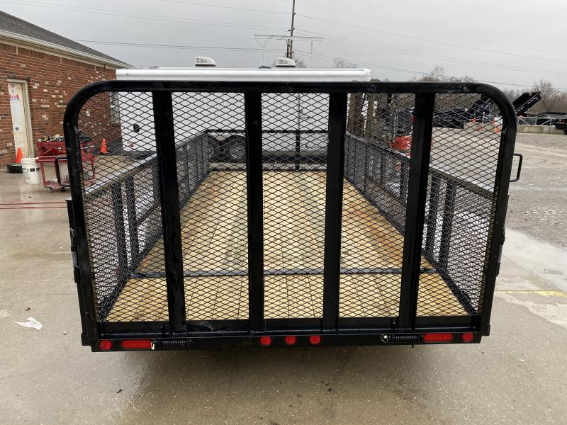 2020 83x16 (14+2) TA PJ Trailers UL162 Utility Trailer - Dovetail - 2 Foot Expanded Metal Sides - Fold Up Gate (GVW:  7000)