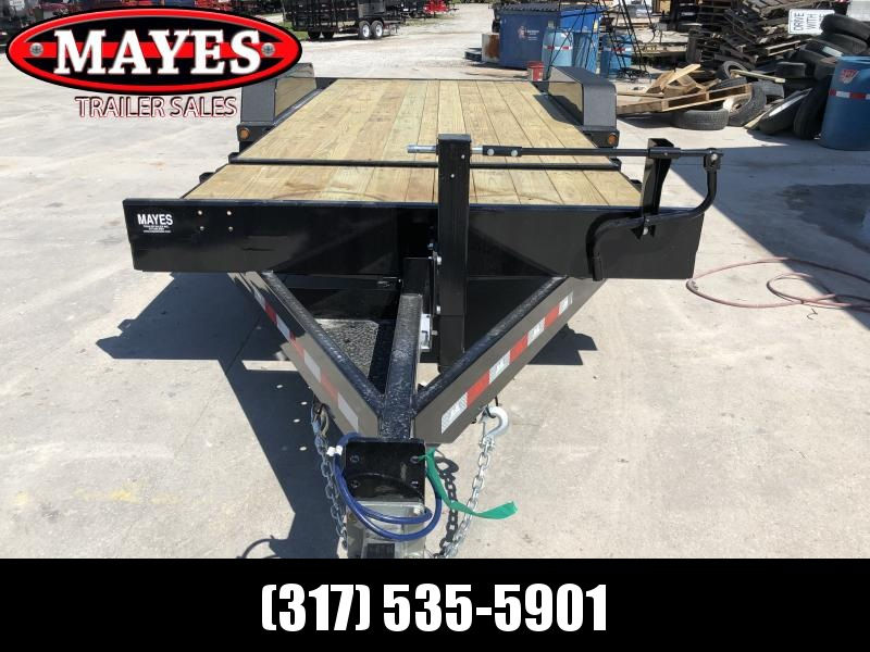 2020 83x20  (4+16) TA Tilt B-B TBCT2016ET Equipment Trailer - D-Rings - Torflex Axles - Side Mounted Hyd. Control Valve - Pallet Fork Holders (GVW:  16000)