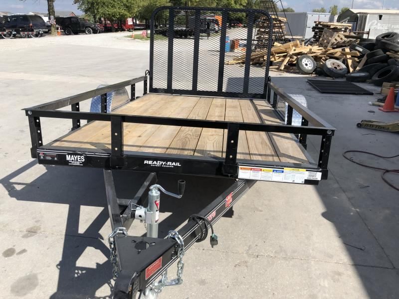 2020 72 x10 SA PJ Trailers U2101 Utility Trailer - Straight Deck - 4 Foot Fold Up Gate (GVW:  2995)