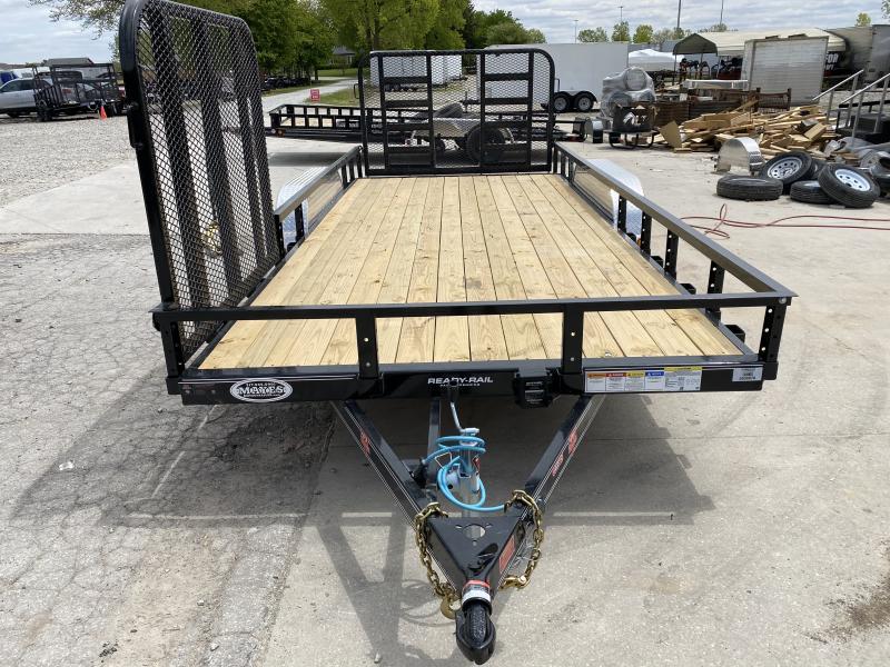 2020 PJ Trailers 83x18 (16+2) in. Tandem Axle Channel Utility (UL) Utility Trailer