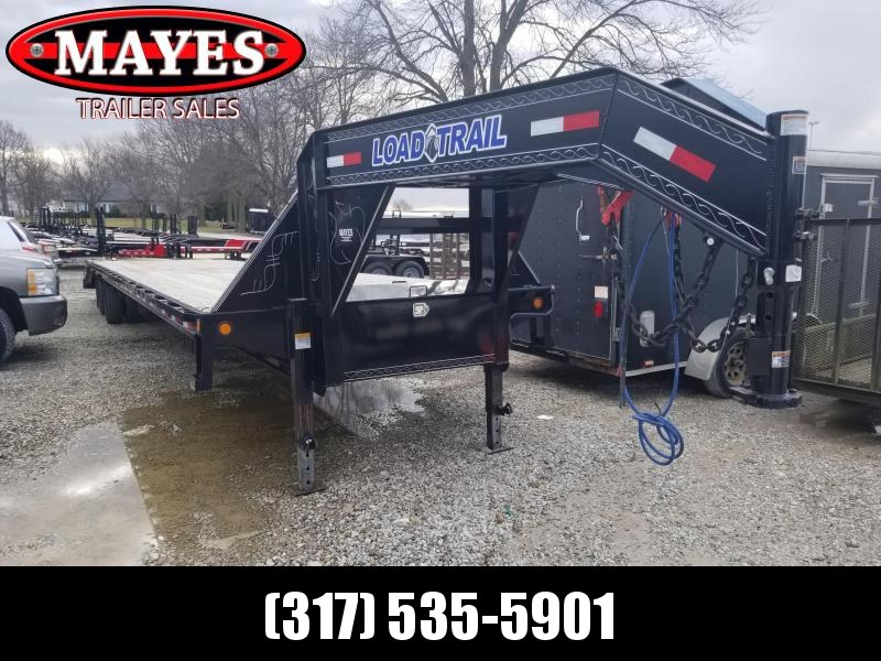 Used 2019 102x40 (35+5) Load Trail GH0240122 Equipment Trailer - Gooseneck - Air Ride Suspension - Self Clean Dovetail - Tool Boxes (GVW:  25900)