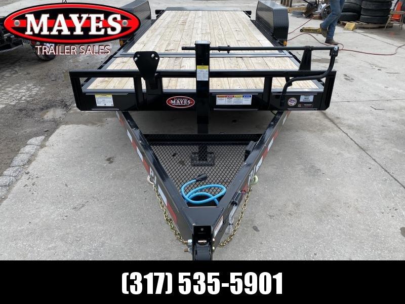 2020 74x20 (4+16) TA Tilt PJ Trailers T6202 Equipment Trailer - 16 Foot Tilt Deck - Torsion Axles - Spare Tire MOUNT ONLY - 6 Inch Channel  (GVW:  14000)