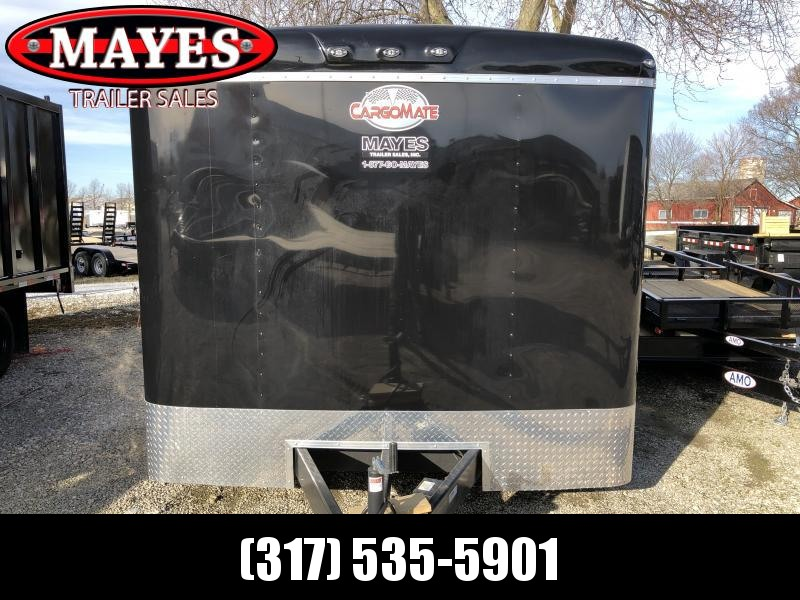 Used 2020 8x24 TA Cargo Mate BL824TA4 Enclosed Cargo Trailer - Ramp Door - 48 Inch Side Door - No Show Beavertail - 54 Inch Ext. Tongue - Torsion Axles (GVW:  12000)