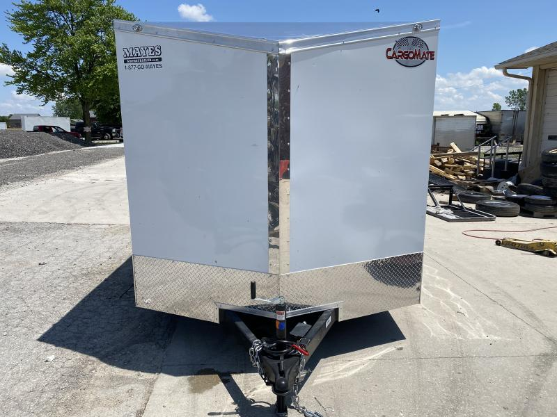 2021 7x14 Cargo Mate EHW714TA2 Enclosed Cargo Trailer - Polar White (RD)(GVW: 7000) *Slope Wedge Nose*