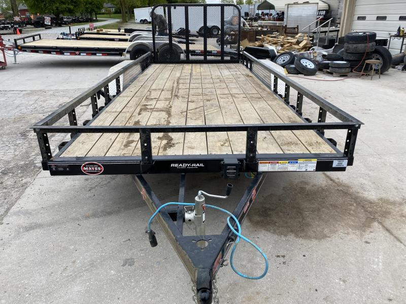 2020 PJ Trailers UL182 Utility Trailer 83x18 TA - Straight Deck - Fold In Gate - Spare Tire MOUNT ONLY (GVW:  7000)