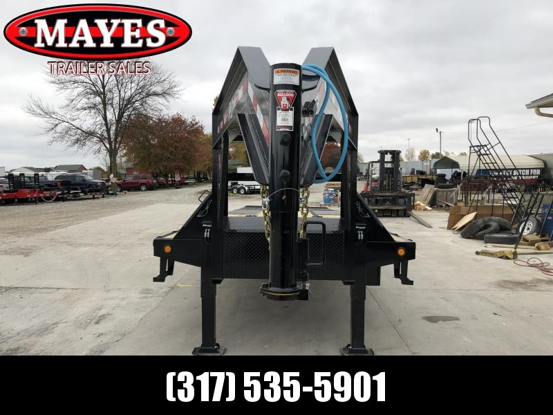 2020 102x32 (22+10) Low Pro Goosneck PJ Trailers LY322 Equipment Trailer with Hydraulic Dovetail - Blackwood Pro Outer Deck (TAIL ONLY) - 10 Foot Hydraulic Dovetail - Hydraulic Monster Jacks (GVW:  25000)