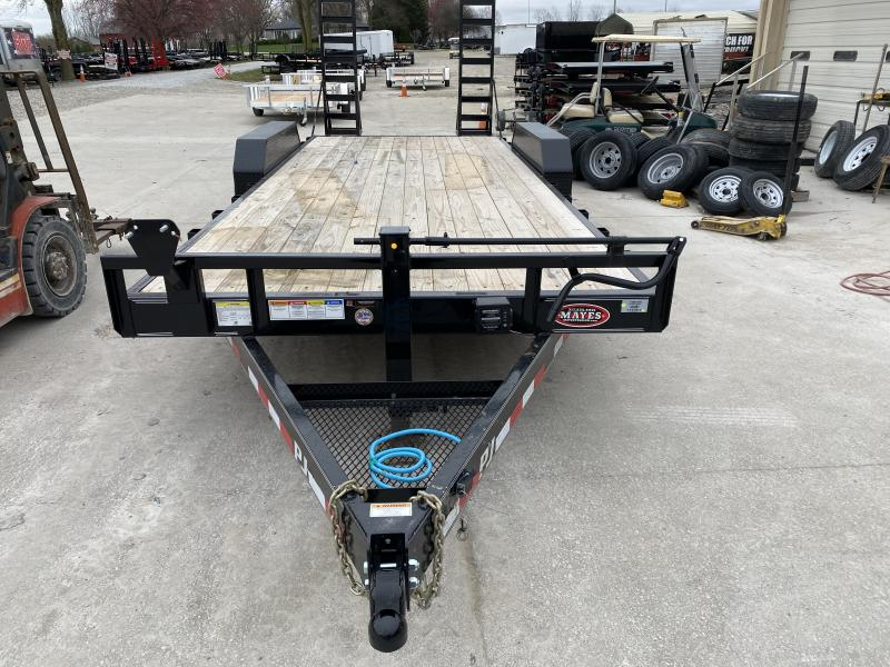 2020 83x20(18+2) PJ Trailers 6 in. Channel Equipment (CC) Trailer - w/ 5' Fold-up Ramps (GVW: 14000)