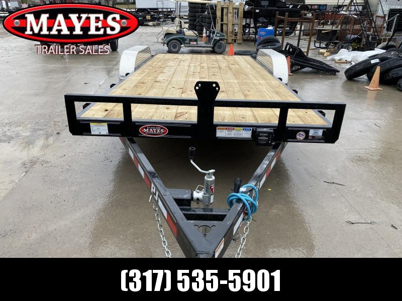 2020 83x18 (16+2) TA PJ Trailers C5182 Equipment Trailer - Dovetail - Rear Slide In Ramps - Spare Tire MOUNT ONLY (GVW:  7000)