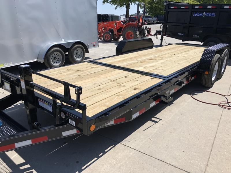 2020 83X22 (6+16) TA Tilt T6222 PJ Trailers - 16 Foot Tiltable Deck - Torsion Axles - Spare Tire MOUNT ONLY (GVW:  14000)