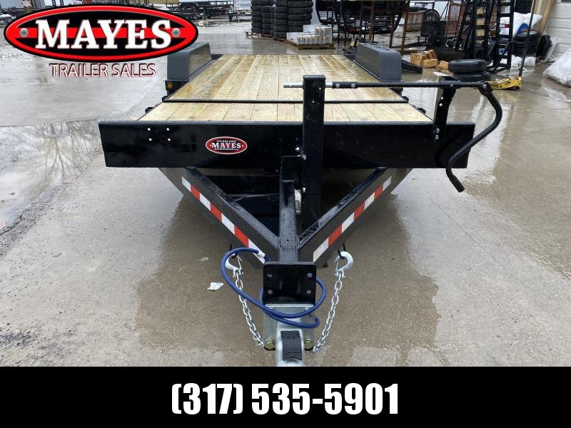 2020 83x20 (4+16) TA Tilt B-B TBCT2014ET Equipment Trailer - Pallet Fork Holders - D-Rings - Torsion (GVW:  14000)