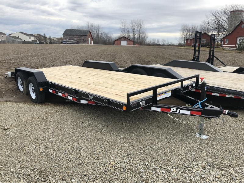 2019 83x20 (18+2) TA CE202 PJ Trailers - Dovetail - Slide In Ramps (GVW:  9990)