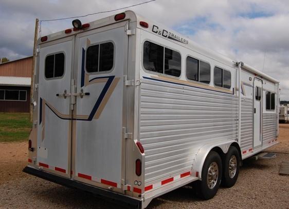 2001 C and C  Living Quarter Horse Trailer