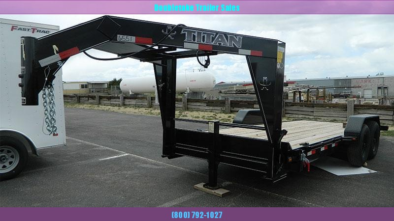 2020 Titan Trailers GOOSENECK TILT BED Equipment Trailer