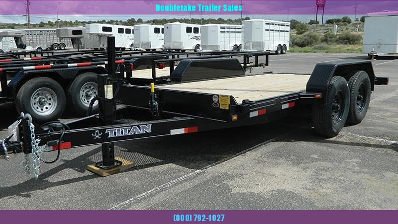 2020 Titan Trailers Open TILT DECK Equipment Trailer