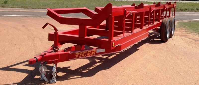 2020 Tiger 4 Bale Hay Buggy Open Flatbed Trailer