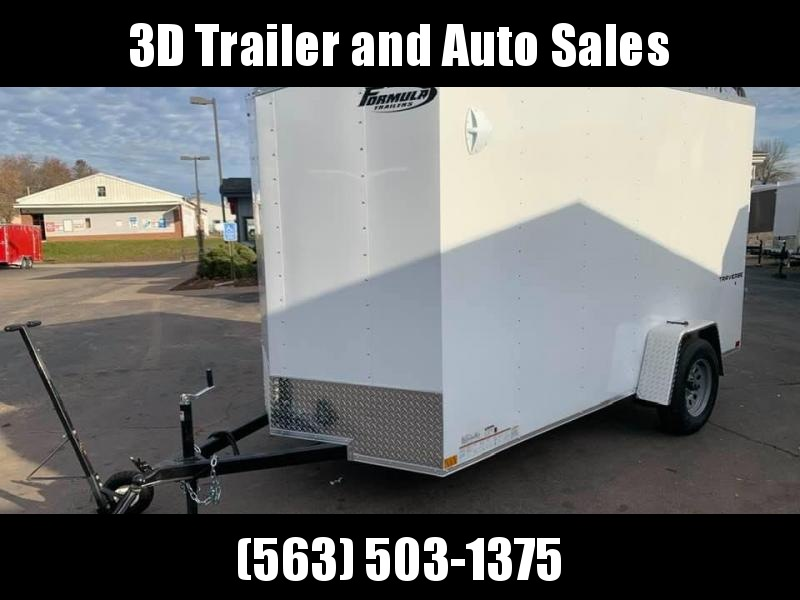"2020 Formula 6' x 12' x 6'5"" Traverse Enclosed Cargo Trailer"