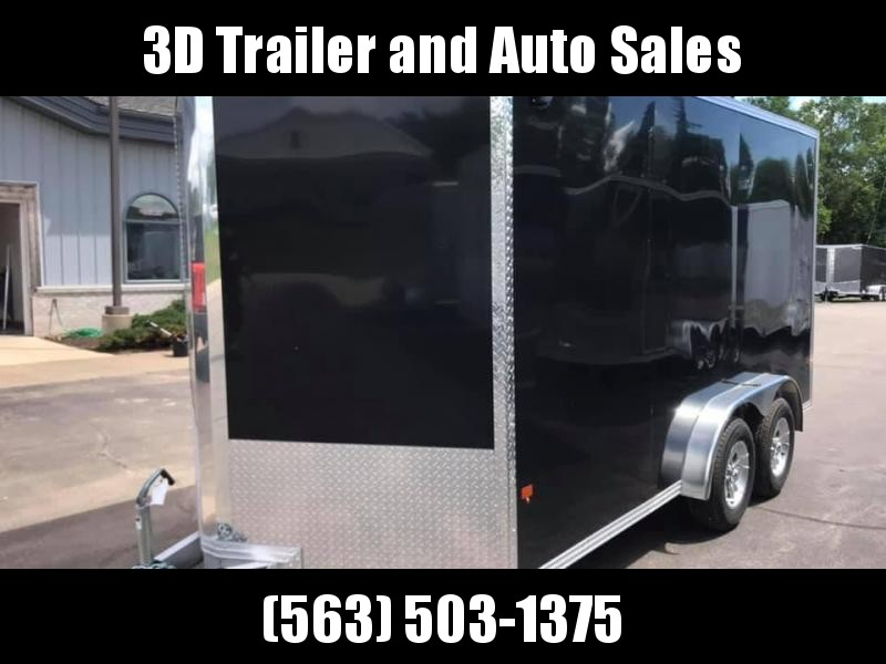 "2020 CargoPro 7.5' x 14' x 6'10"" Stealth Extra Tall Aluminum Cargo Enclosed Trailer w/ Ramp Door"