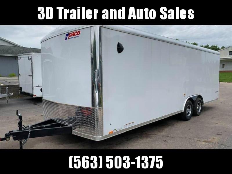 2021 Pace American 8.5' x 24' x 7' 10K GVW Cargo Sport Extra Tall PREMIUM Enclosed Trailer