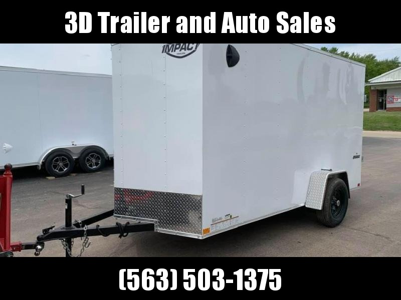"2020 Impact 6' x 12' x 6'6"" Quake Enclosed Cargo Trailer"