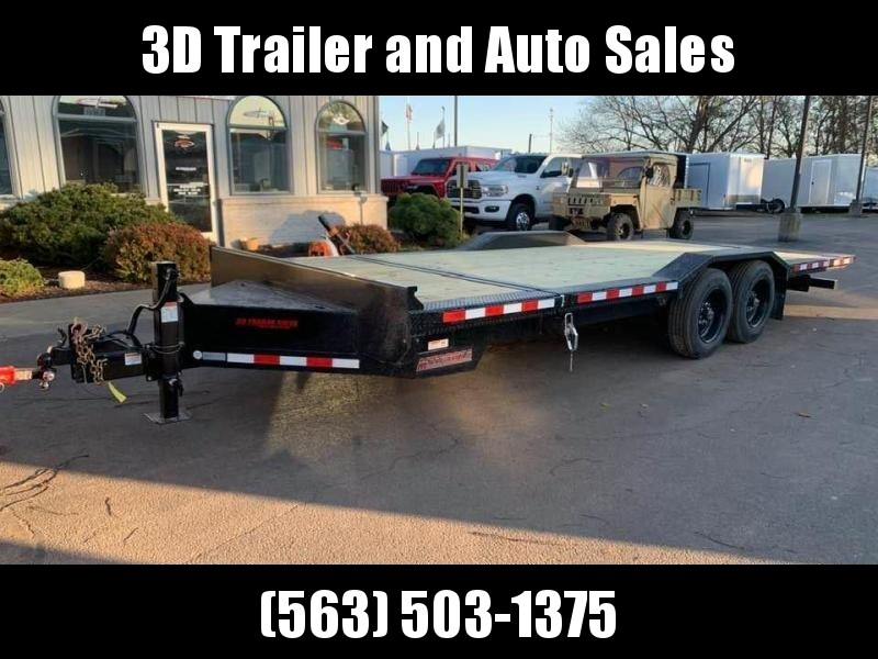 "2020 Midsota TBWB 102"" x 22' 17600LB GVWR Wide Body Drive Over Fenders Tilt Bed Equipment Trailer"