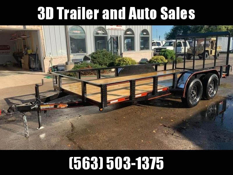 2020 Chase Trailers 6.5' x 16' w/ 4' Gate Open Utility Trailer