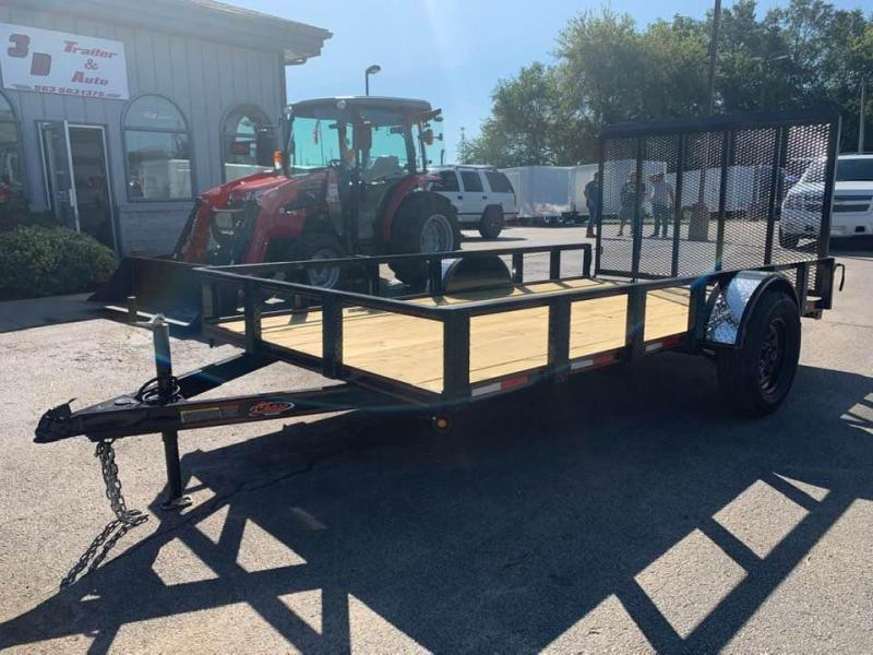 2020 Chase Trailers 7' x 14' Open Utility Trailer w/ 4'  Assisted Gate