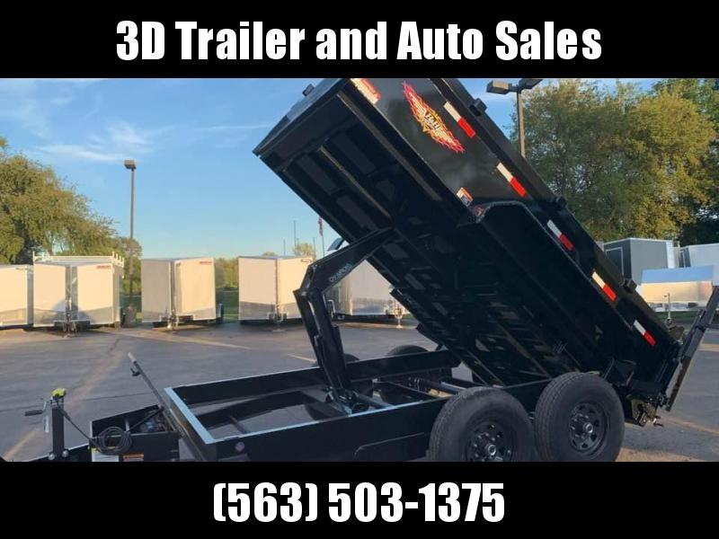 "2020 H & H 83"" x 12' 14k Scissor Lift Dump Bed Trailer"