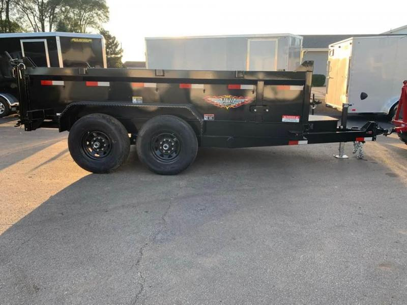 "2020 H & H 83"" x 12' 14k Scissor Lift Dump Bed Trailer"