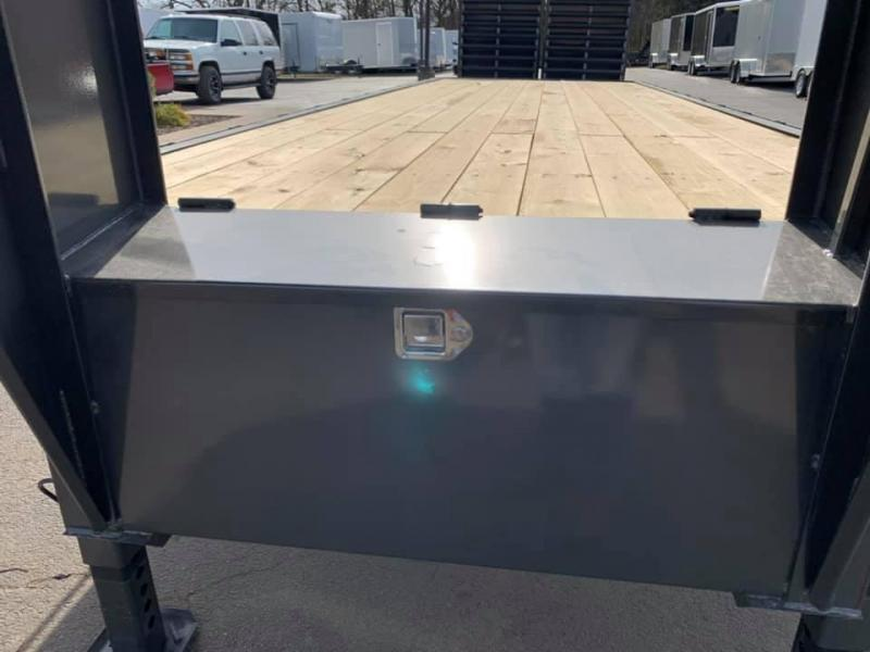 2020 Travalong 31' Gooseneck Deckover 20K GVWR w/ Full Width Ramps