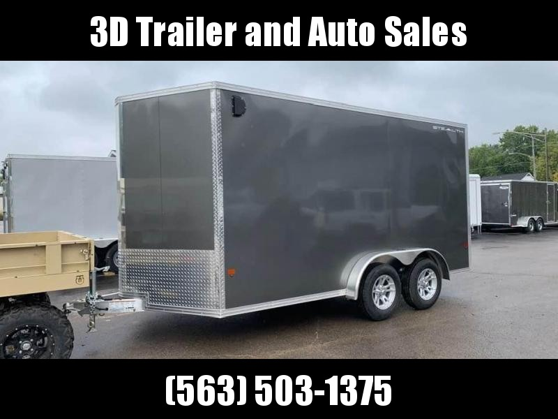 "2020 Cargo Pro 7.5' x 14' x 6'9"" Stealth Extra Tall Aluminum Cargo Enclosed Trailer w/ Ramp Door"