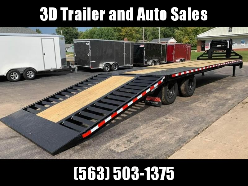 2020 Midsota 36' 26k Gooseneck Flatbed Hyrdraulic Dovetail Equipment Trailer