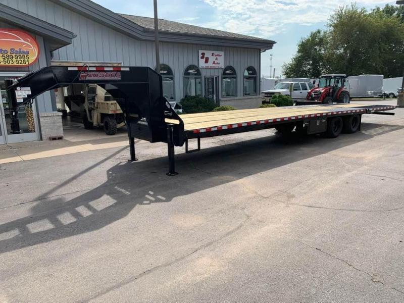 2020 Midsota 36' 26k Gooseneck Flatbed Hyrdraulic Dovetail Equipment Trailer