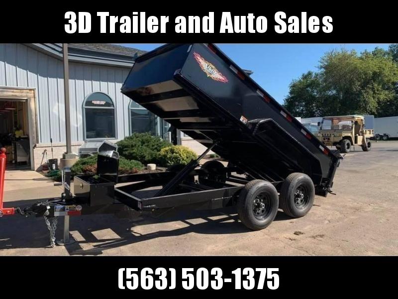 """2019 H & H 76"""" x 12' 10K Dump Bed Trailer"""