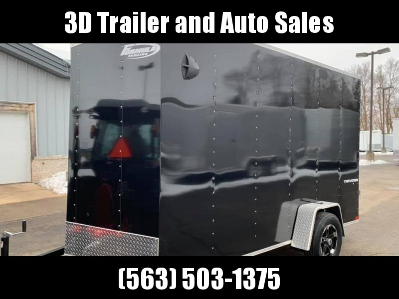 2020 Formula 6' x 12' x 7' Traverse Enclosed Cargo Trailer