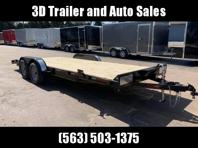 2020 Heartland 20' 7K GVWR Flat Bed Car Trailer
