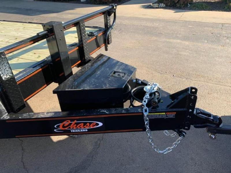 2020 Chase Trailers 24' 14K Equipment Trailer w/ Fold-Up Ramps