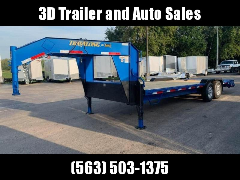 2020 Travalong 23' 14k Gooseneck Full Width Lowboy Equipment Trailer