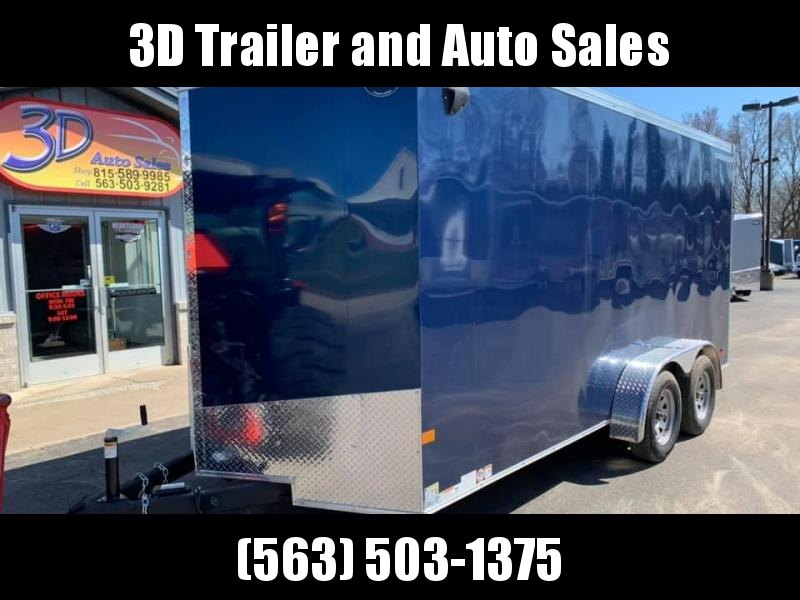2020 Wells Cargo 7' x 16' x 7' Road Force Slope nose Wedge Front UTV PKG Enclosed Cargo Trailer
