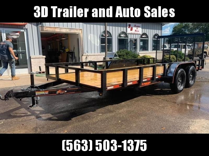 2020 Chase Trailers 7' x 16' w/ 4' Assisted Gate Open Utility Trailer