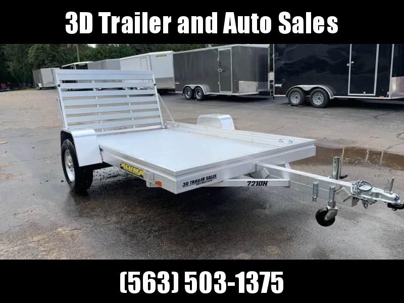 "2020 Aluma 72"" x 10' H Straight Aluminum Open Utility Trailer"