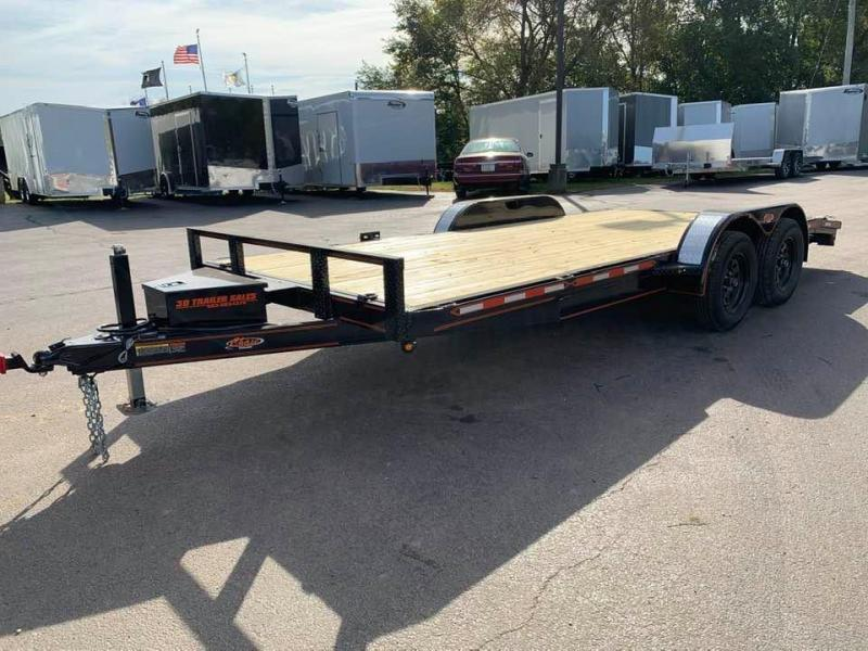 2020 Chase Trailers 18' 7K Loaded Flatbed Car Trailer