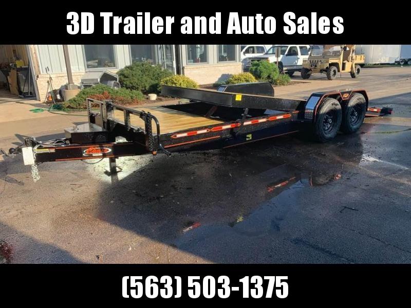 2019 Chase Trailers 22' 14K Split Deck Tilt Bed Equipment Trailer