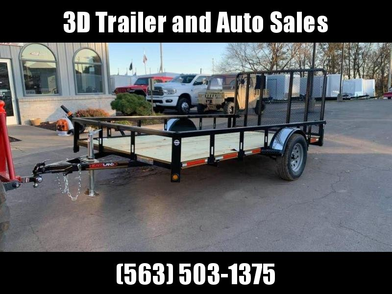 2019 Heartland 7' x 12' ATV TRAILER w/ 4' Gate Open Utility Trailer